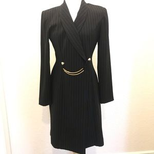 ✨Danny&Nicole- Blk/Wht Stripe Suit Dress- Sz 8✨